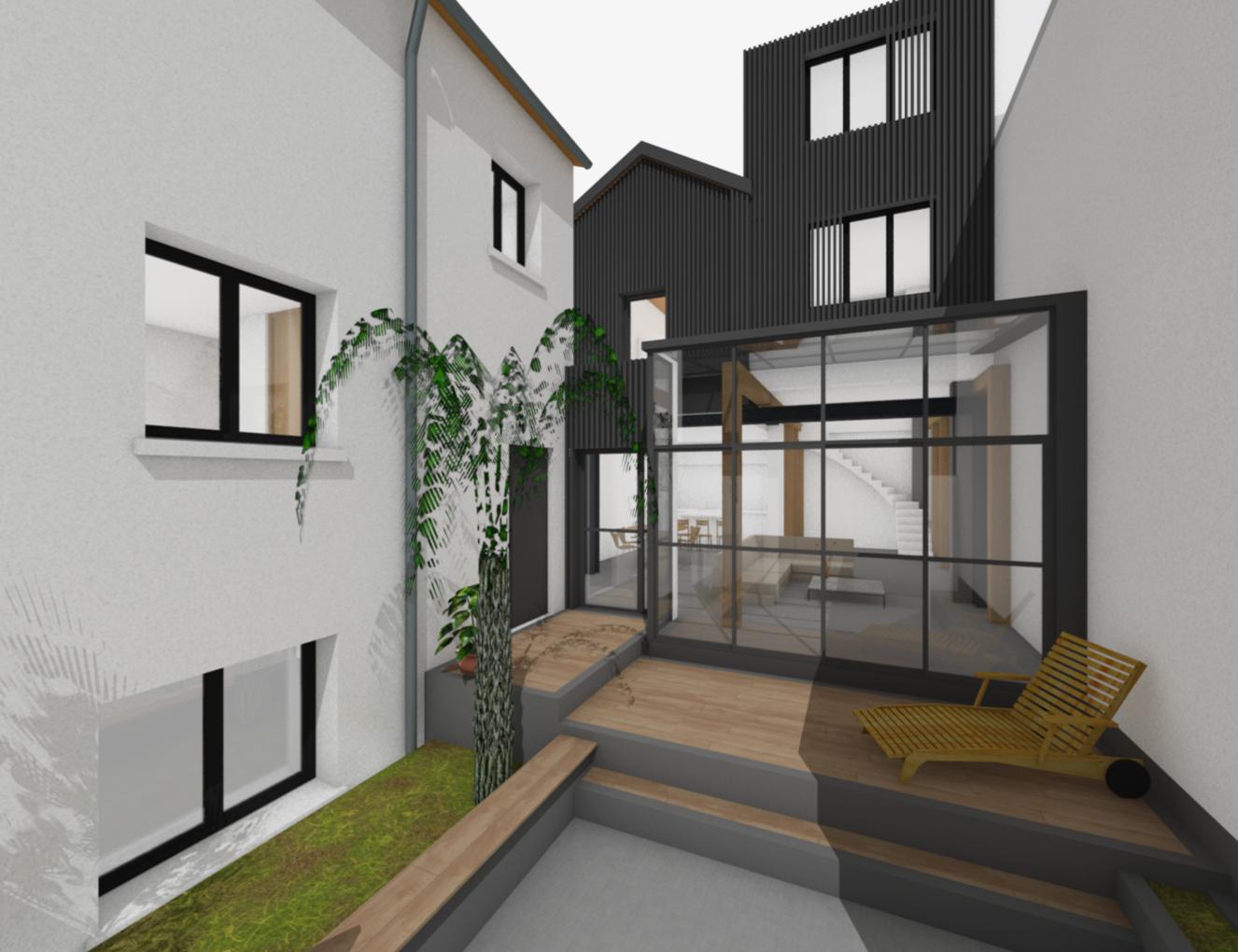 photo Extension d'une maison de 148m2 Berger Potit Architecture