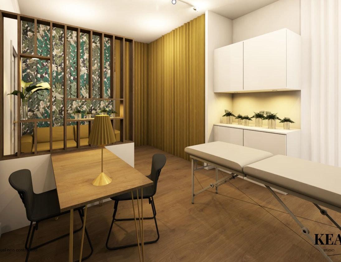 photo Rénovation d'un cabinet de réflexologie Kea-studio