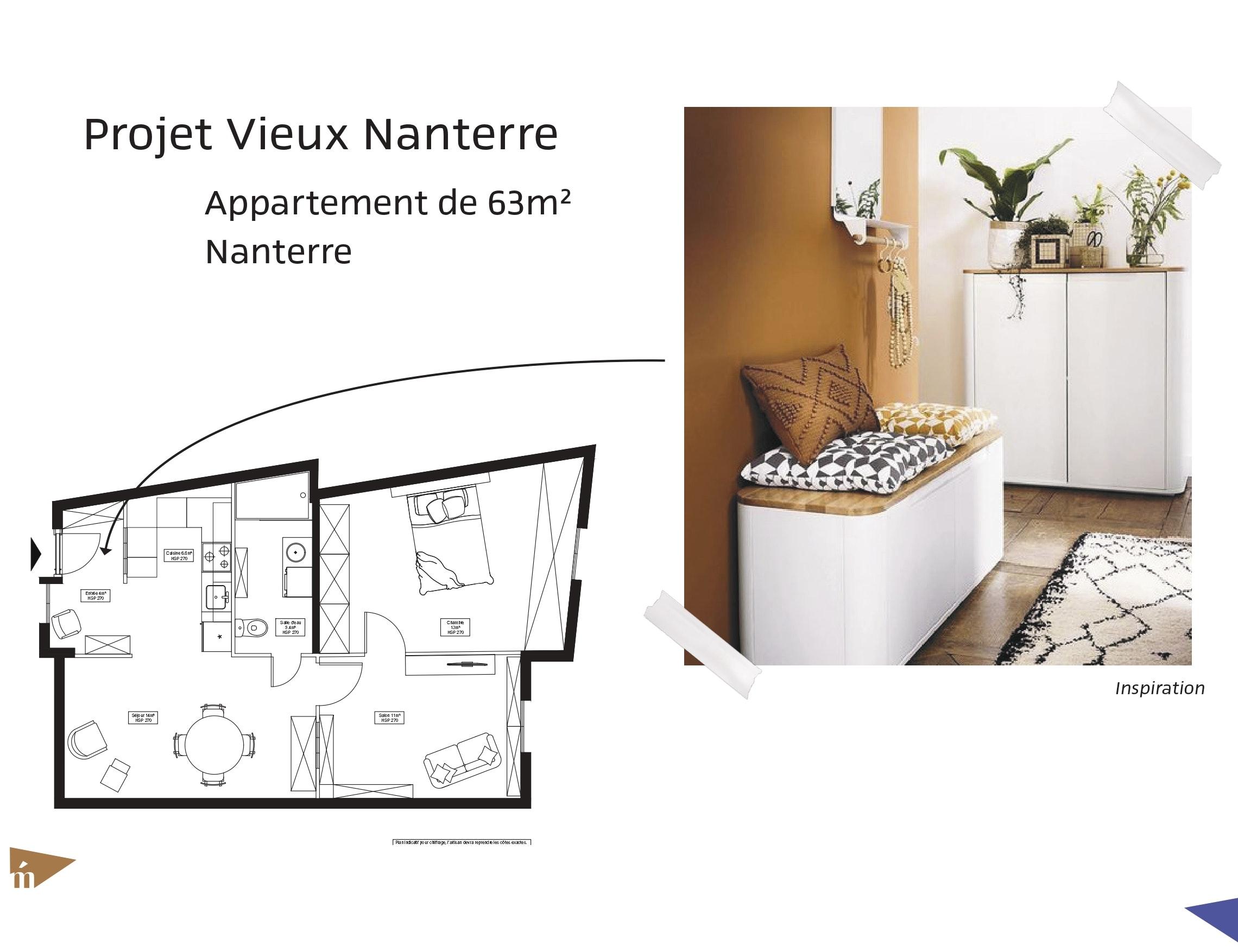 photo Projet Vieux Nanterre - 63m² Léa Mast - Architecte hemea