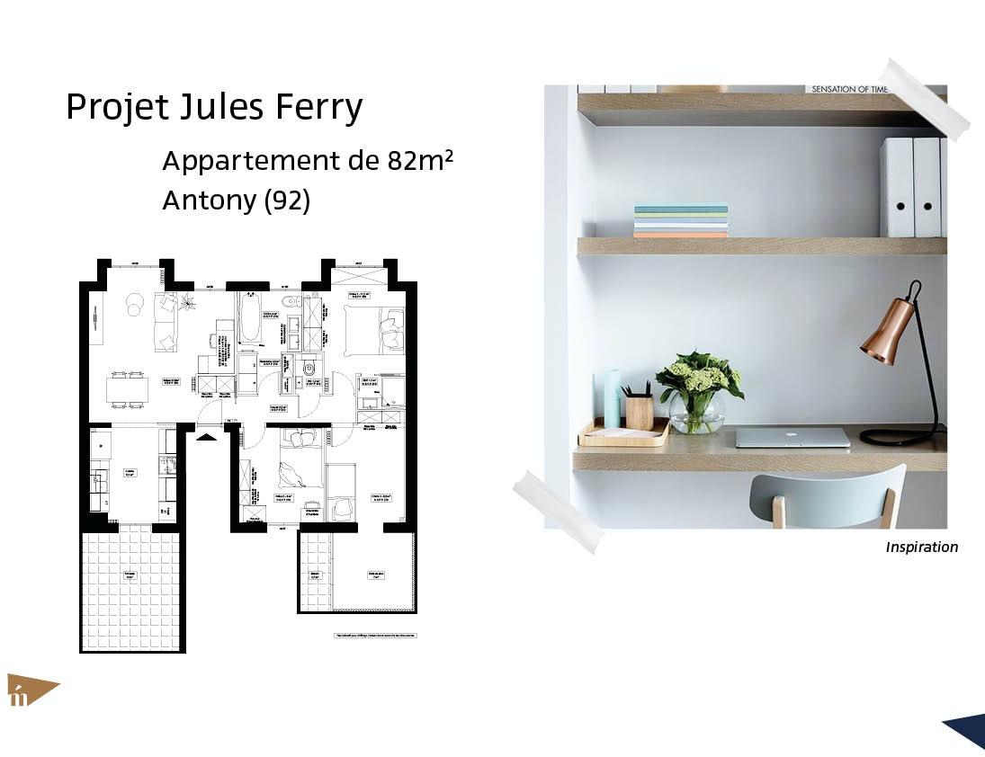 photo Projet Jules Ferry - 82m² - Antony (92) Léa Mast - Architecte hemea