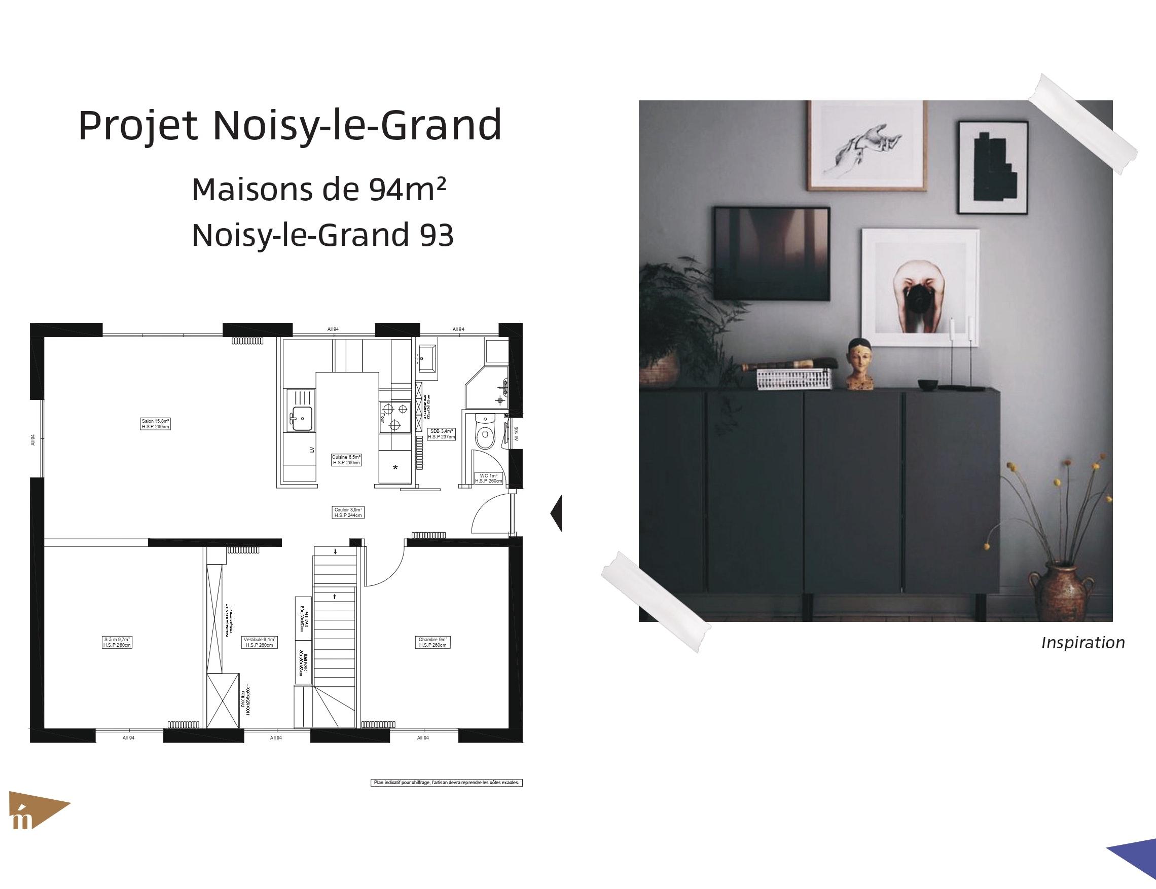 photo Projet Noisy-le-Grand - 94m² Léa Mast - Architecte hemea