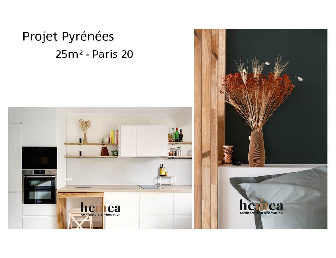 photo Projet Pyrénées - 25m² - Paris 20 Léa Mast - Architecte hemea