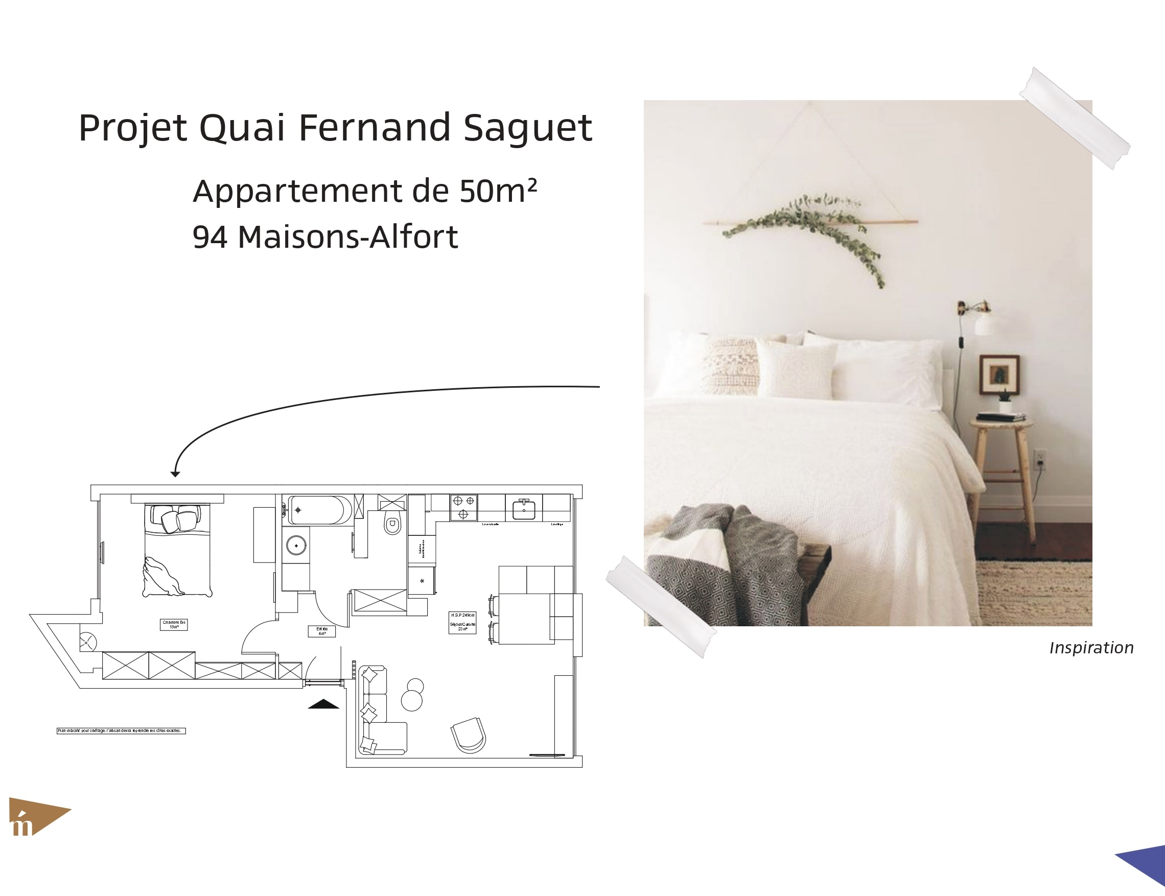 photo Projet Quai Fernand Saguet - T2 - Maisons Alfort Léa Mast - Architecte hemea