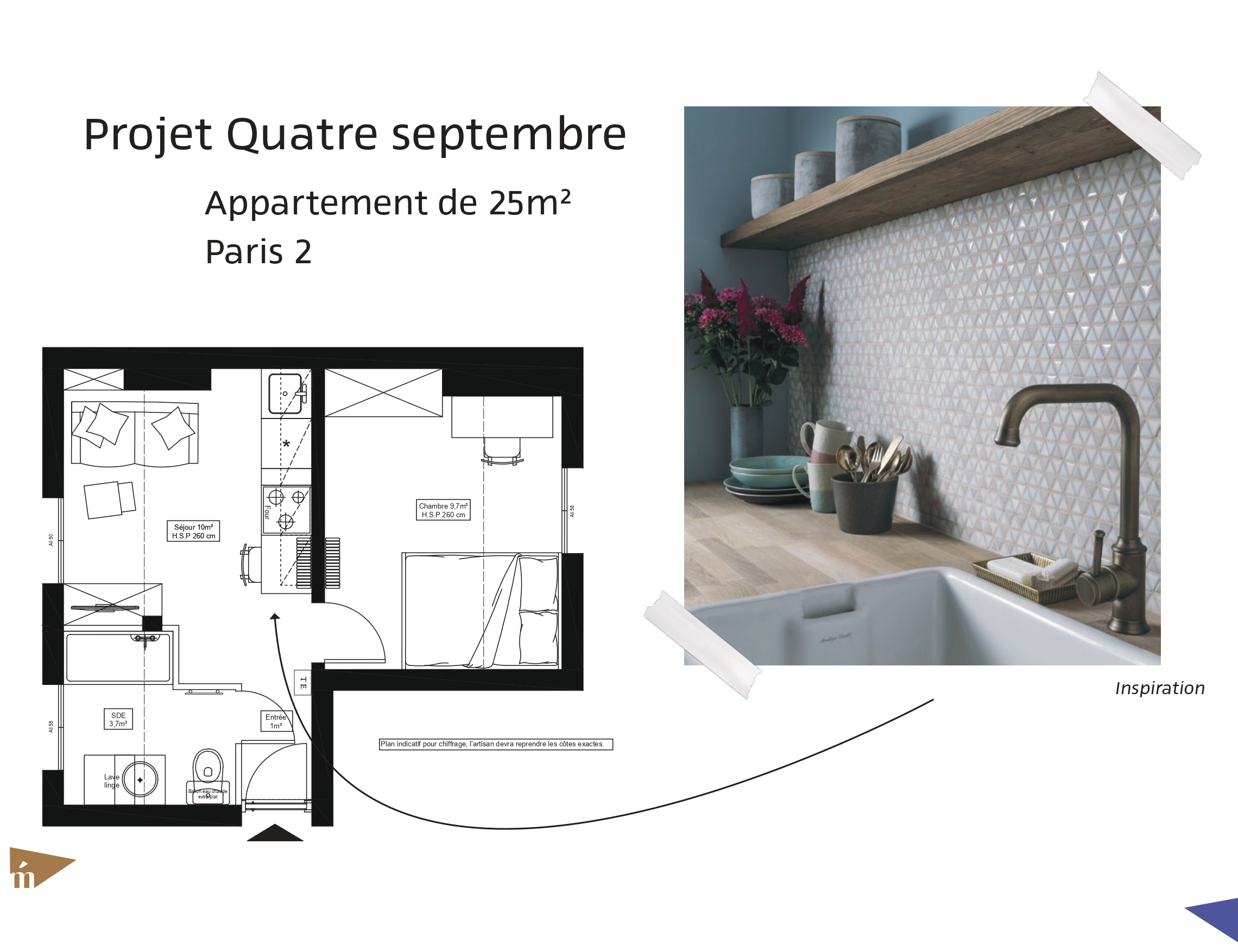 photo Projet Quatre-Septembre - 25 m² - Paris 2 Léa Mast - Architecte hemea