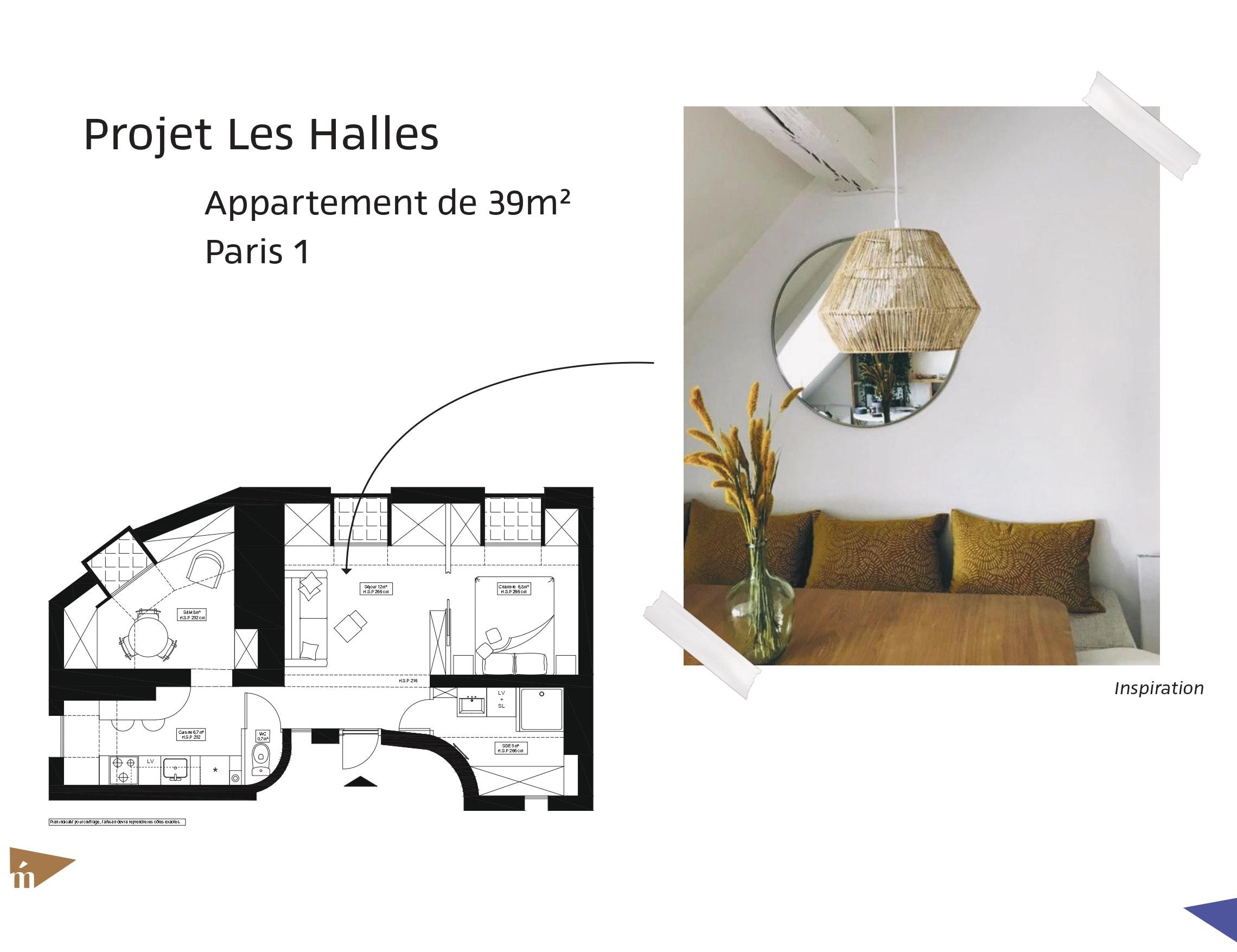 photo Projet les Halles - 39 m² - Paris 1 Léa Mast - Architecte hemea