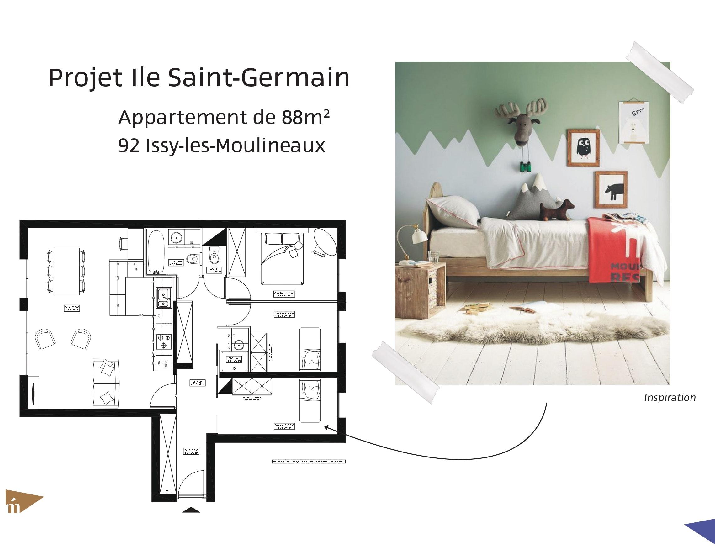 photo Projet Ile Saint-Germain - 88 m² Léa Mast - Architecte hemea
