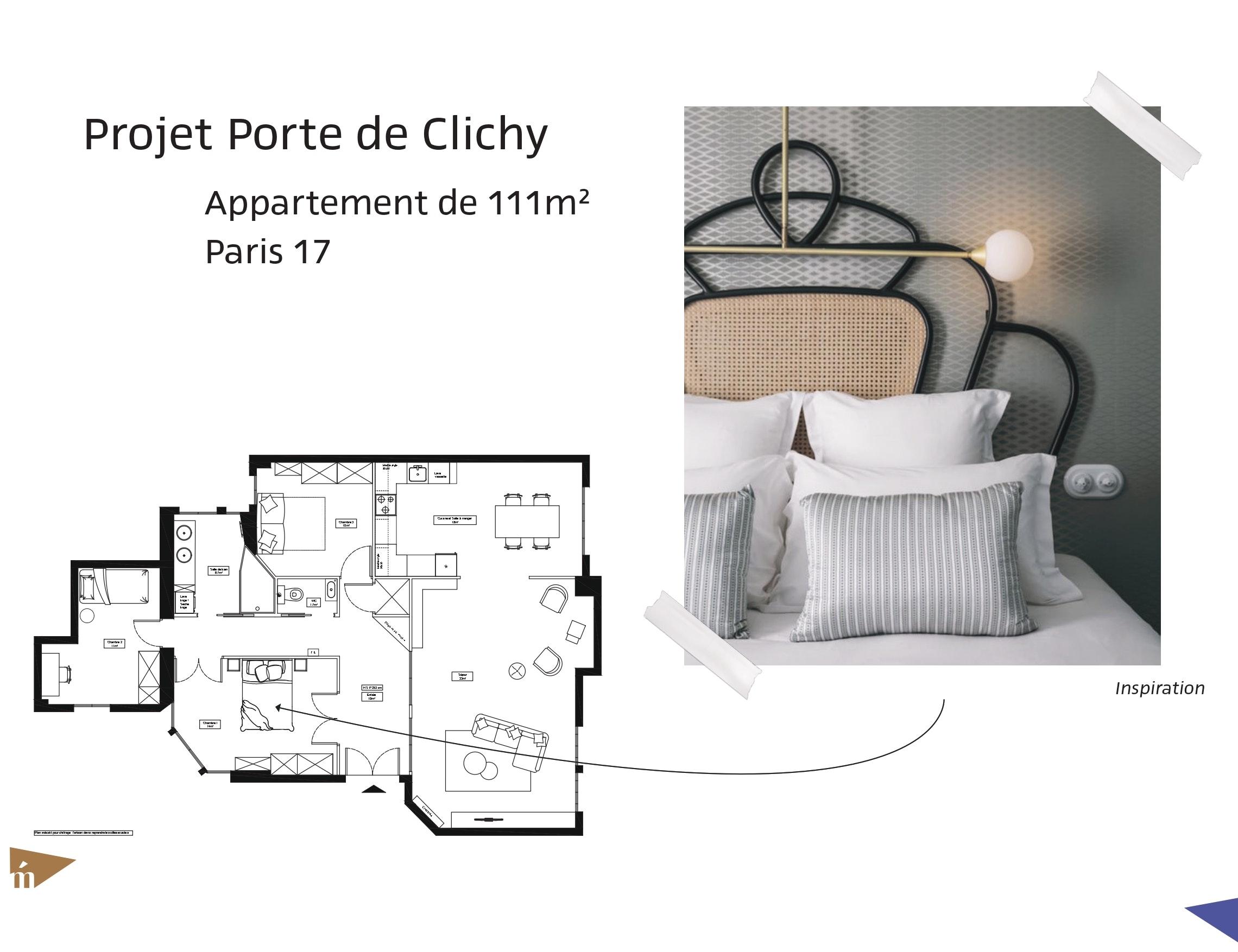 photo Projet Porte de Clichy - 111 m² - Paris 17 Léa Mast - Architecte hemea