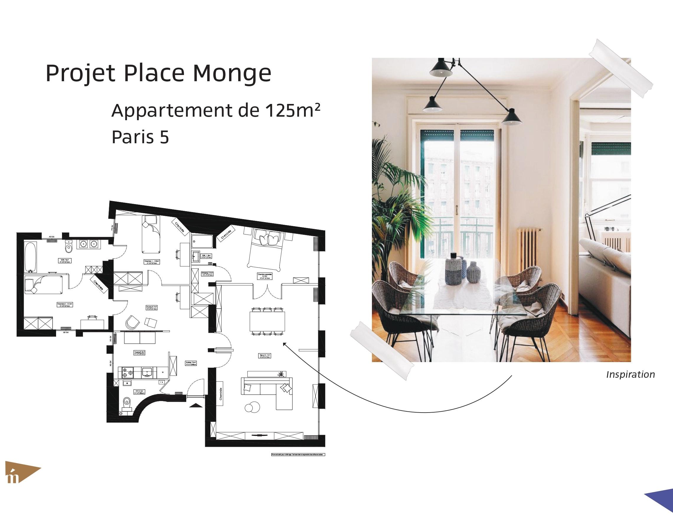 photo Projet place Monge - 125 m² - Paris 5 Léa Mast - Architecte hemea