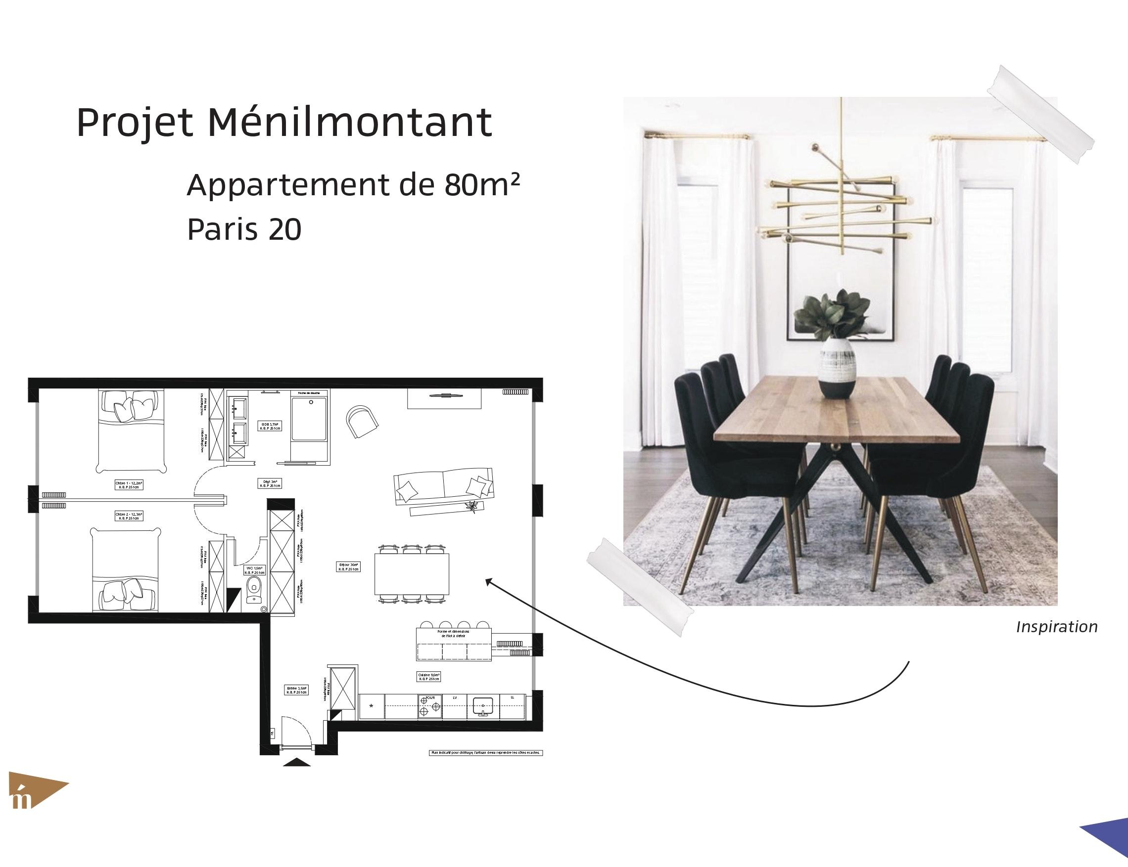 photo Projet Ménilmontant - 80 m² - Paris 20 Léa Mast - Architecte hemea