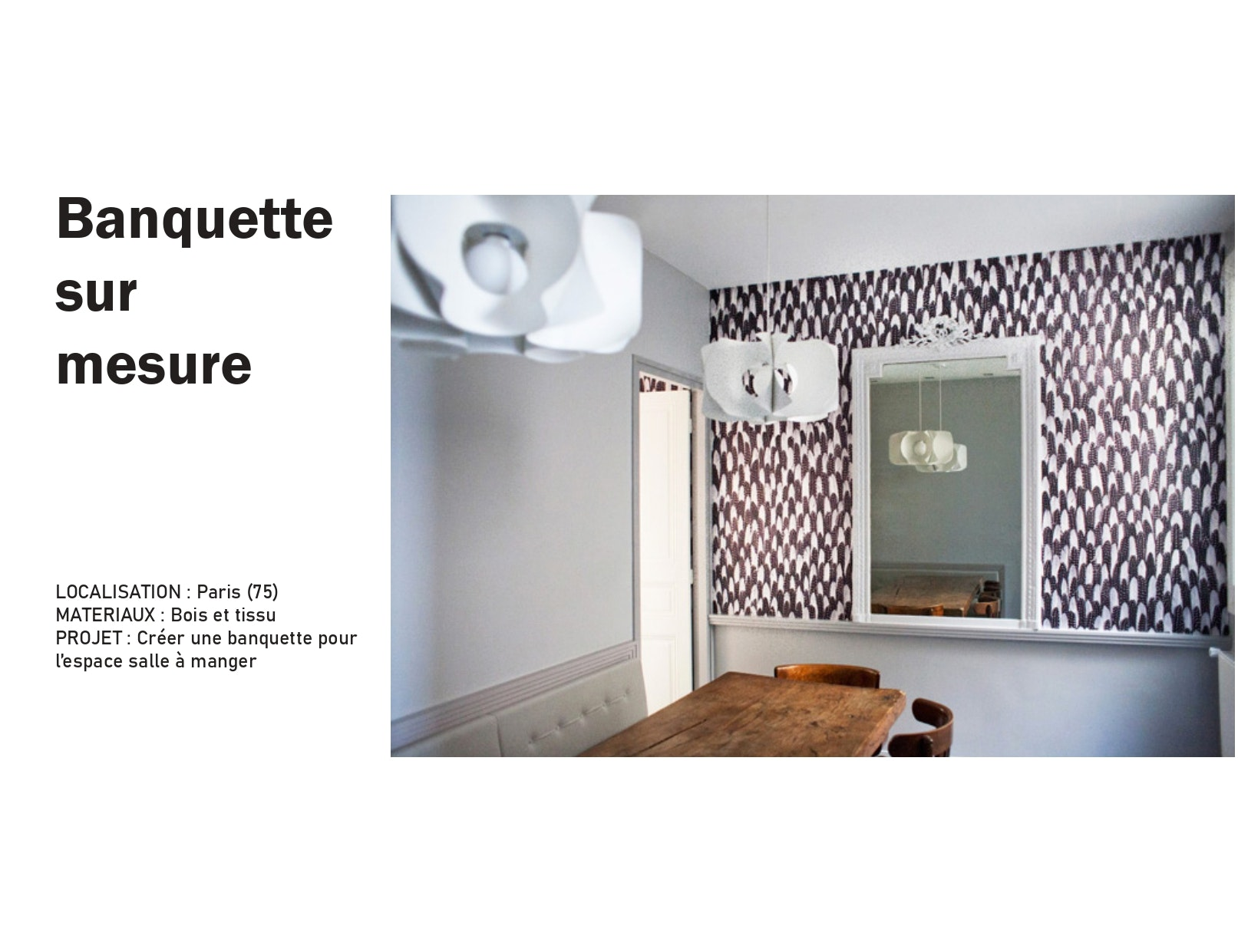 photo Banquette sur mesure Manon Le Gall - Architecte hemea