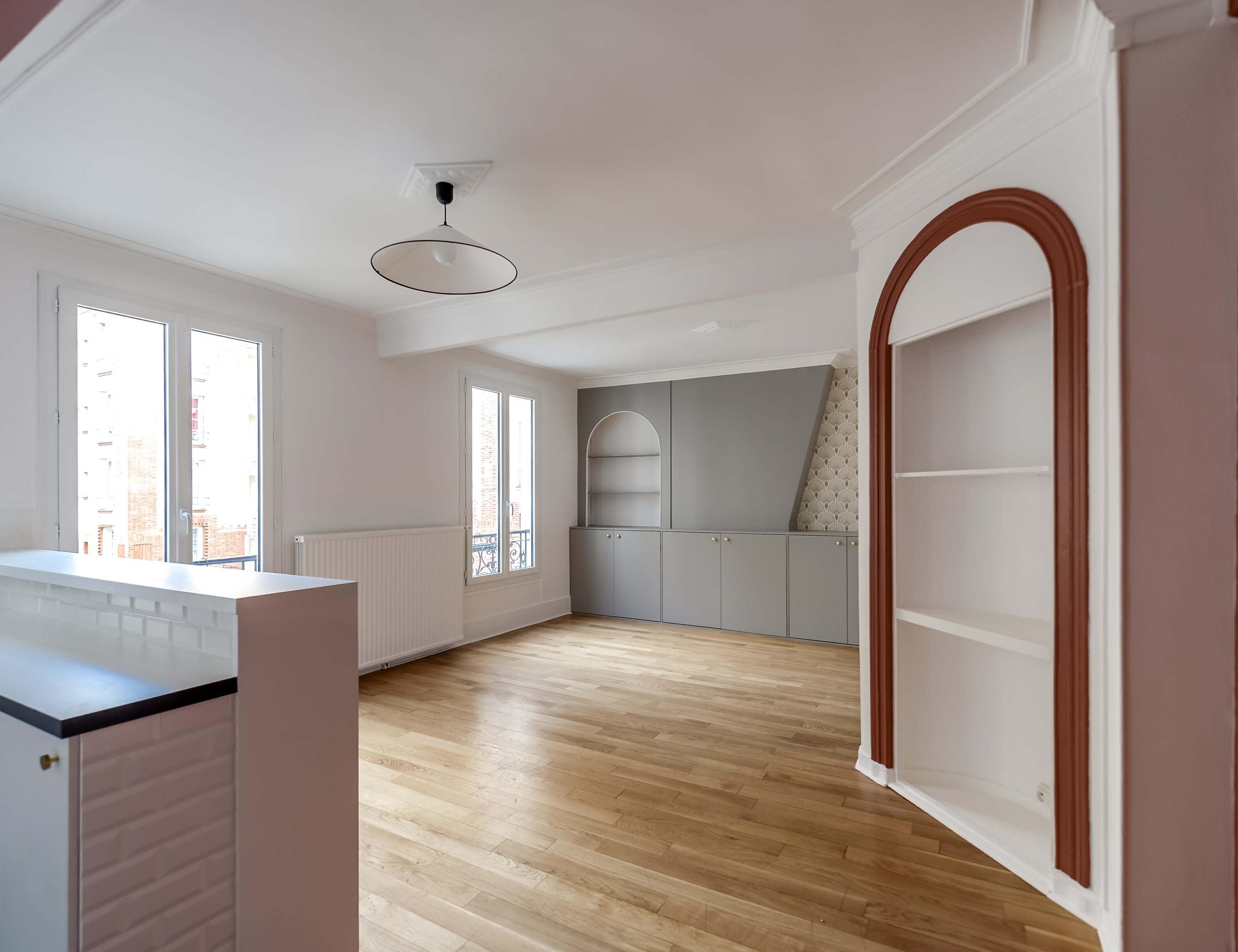 photo Rénovation complète d'un appartement de 45m2 Studio Ginko