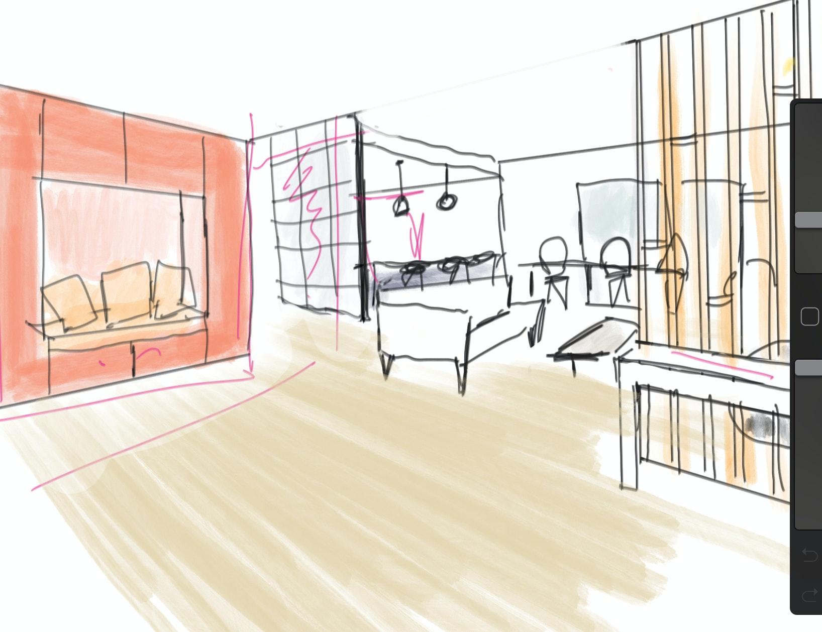 photo Croquis d'intention I Maison individuelle Cruseilles Nicolas Kinski, Architecte d'intérieur hemea