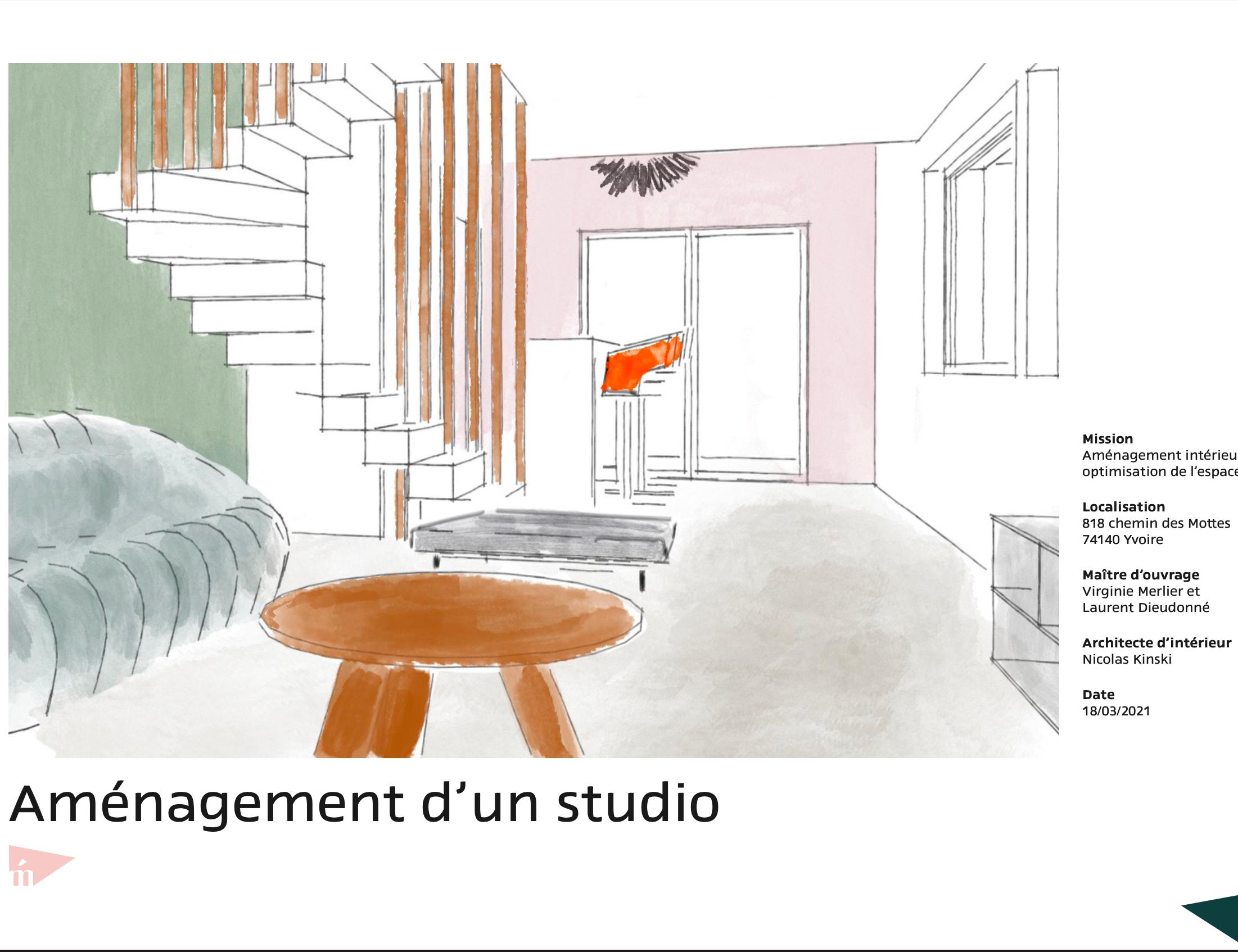 photo Aménagement I studio Yvoire Nicolas Kinski, Architecte d'intérieur hemea