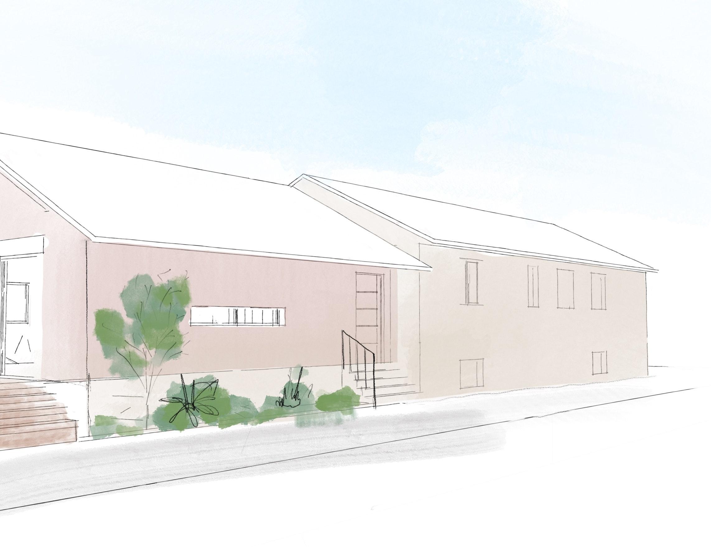 photo Esquisse Extension  I Maison individuelle Caluire  Nicolas Kinski, Architecte d'intérieur hemea