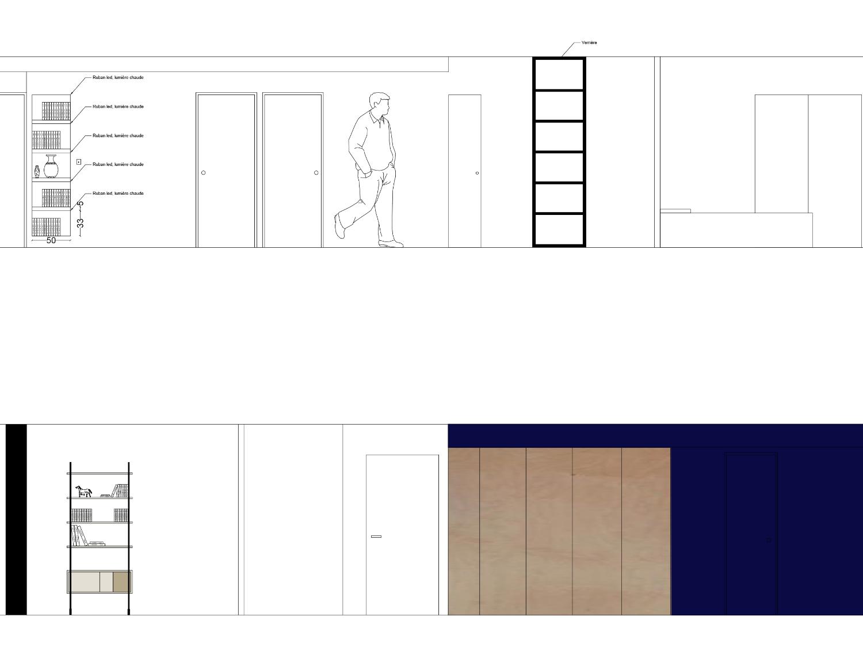 photo Coupe Dégagement I Appartement Lyon 4ème Nicolas Kinski, Architecte d'intérieur hemea