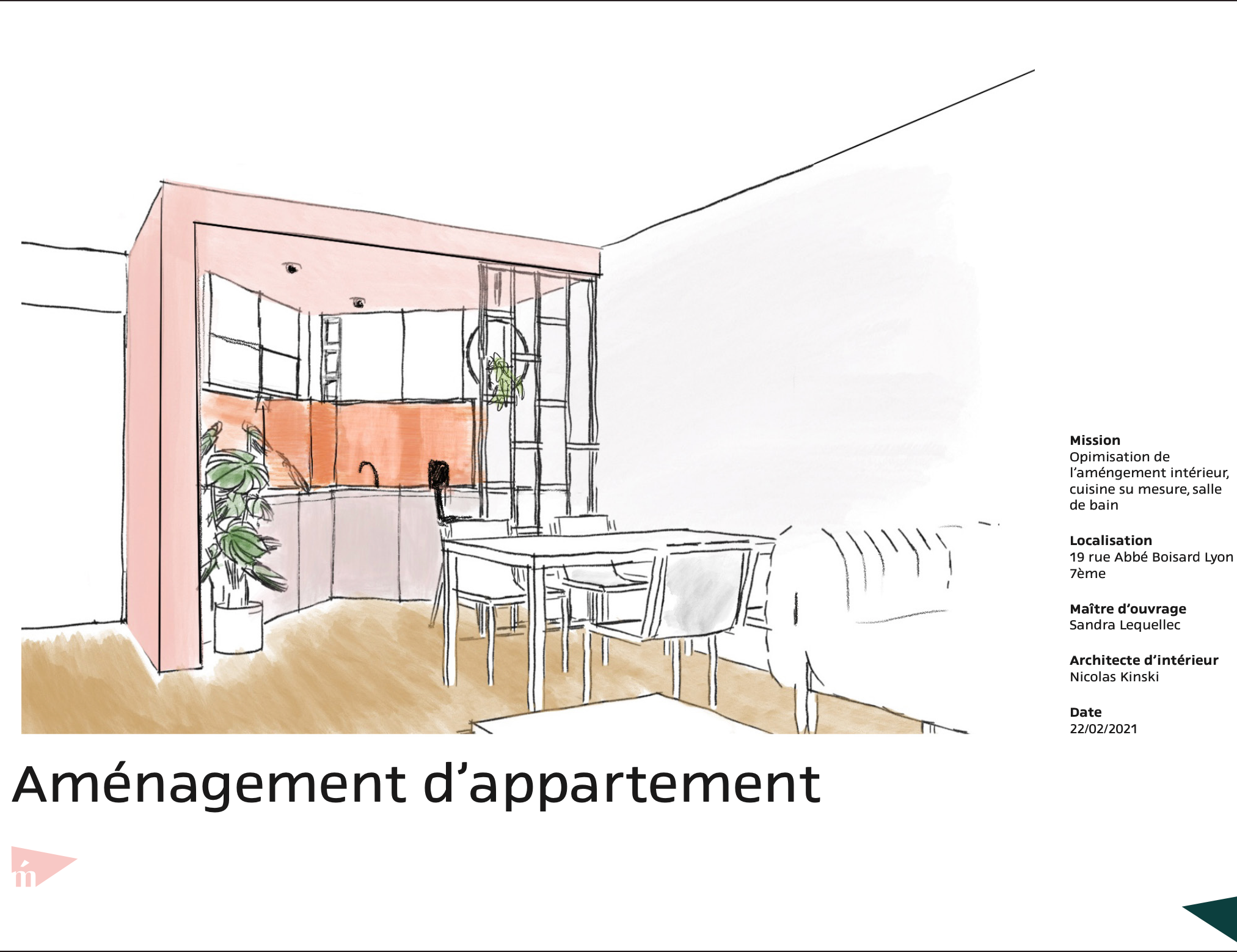 photo Conception et aménagement I appartement Lyon 7 Nicolas Kinski, Architecte d'intérieur hemea