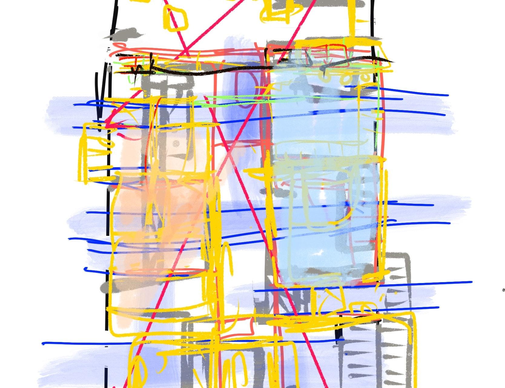 photo Croquis de conception I maison individuelle Caluire Nicolas Kinski, Architecte d'intérieur hemea