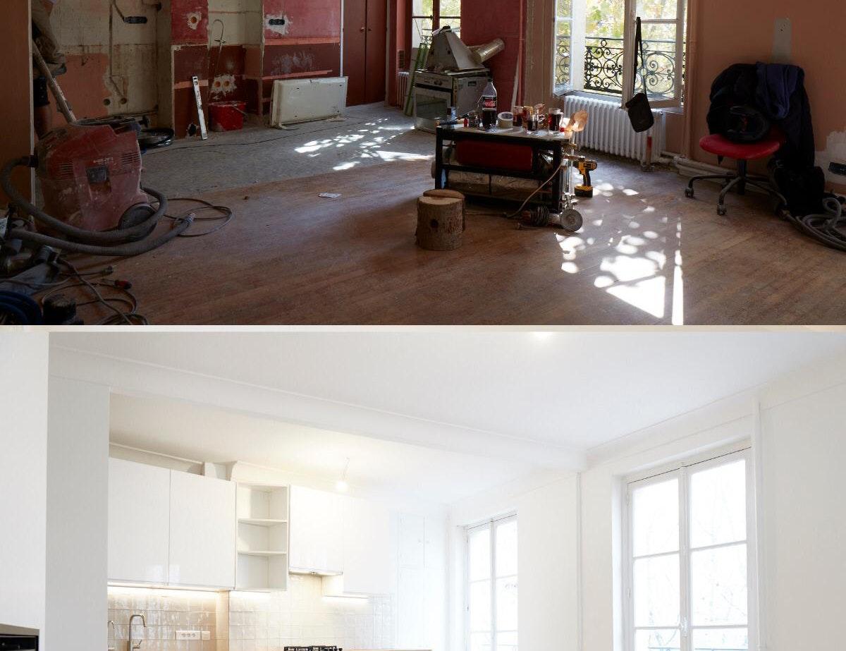 photo Rénovation d'un appartement avant/ après Renovar