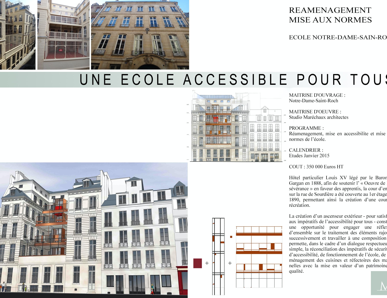 photo Extension d'un immeuble classé (école) Studio Marechaux